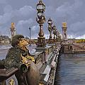 Paris-pont Alexandre III by Guido Borelli
