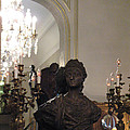 Paris Sculpture Bust - Hotel Regina Chandelier Poster by Kathy Fornal