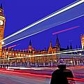 Parliament Square with Silhouette Poster by Chris Smith
