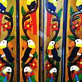 Parrots and Tucans  Poster by Unique Consignment