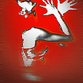 Passion in Red Poster by Naxart Studio