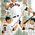 Pat Burrell Study 2 Poster by George  Brooks
