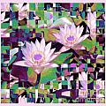 Patchwork Quilt Poster by Karen Lewis