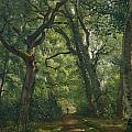 Path in the Forest Print by Henri Joseph Constant Dutilleux