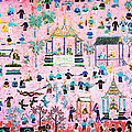 Pattern of art in Asia Print by Setsiri Silapasuwanchai