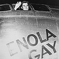 Paul Tibbets In The Enola Gay Print by War Is Hell Store