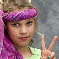 Peace Sign Print by Trudy Wilkerson