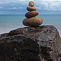 Pebble sculpture Poster by Richard Thomas