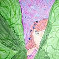 Peeking Fairy  Poster by Elizabeth Arthur