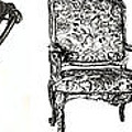 Pen and ink poster of chairs Poster by Lee-Ann Adendorff