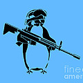 Penguin soldier Print by Pixel Chimp
