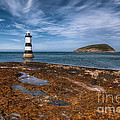 Penmon Lighthouse Poster by Adrian Evans