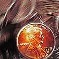 Pennies Abstract 2 Poster by Steve Ohlsen