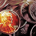 Pennies Abstract 3 Poster by Steve Ohlsen