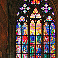 Pentecost window - St. Vitus Cathedral Prague Print by Christine Till