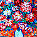 PEONIES BOUQUET Print by ANA MARIA EDULESCU