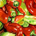 Peppers Print by Nadi Spencer