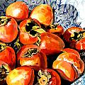 Persimmons Print by Nadi Spencer