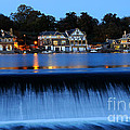 Philadelphia Boathouse Row at Twilight Print by Gary Whitton