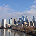 Philadelphia from the South Street Bridge Print by Bill Cannon