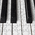 Piano keys jigsaw Poster by Garry Gay
