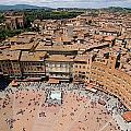 Piazza Del Camp In The Center Print by Joel Sartore