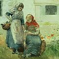 Picking Flowers Poster by Winslow Homer