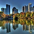 Piedmont Park Atlanta City View Poster by Corky Willis Atlanta Photography
