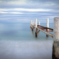 Pier In Pampelonne Beach Poster by dhmig photography