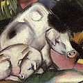 Pigs Poster by Franz Marc