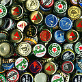 Pile of Beer Bottle Caps . 2 to 1 Proportion Print by Wingsdomain Art and Photography