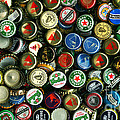 Pile of Beer Bottle Caps . 9 to 16 Proportion Poster by Wingsdomain Art and Photography