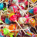 Pile of Lollipops - Painterly Print by Wingsdomain Art and Photography