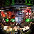 Pilots At The Controls Of A B-52 Poster by Stocktrek Images