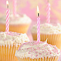 Pink Party Cupcakes Print by Amanda And Christopher Elwell