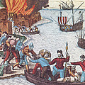 Pirates Burn Havana, 1555 Poster by Photo Researchers