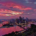 Pittsburgh Dawn Print by Jennifer Grover
