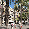 Placa Reial Barcelona Spain Print by Matthias Hauser