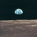 Planet Earth Viewed From The Moon Print by Stockbyte