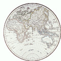 Planispheric Map Of The Eastern Hemisphere Print by Fototeca Storica Nazionale