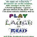 Play Laugh Read Print by Judy Dodds