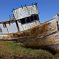 Point Reyes beached boat Print by Garry Gay