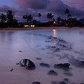 Poipu Evening Storm Print by Mike  Dawson