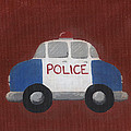 Police Car Nursery Art Poster by Katie Carlsruh