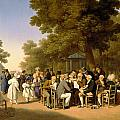 Politicians in the Tuileries Gardens Poster by Louis Leopold Boilly