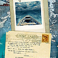 Poloroid of Boat with Inspirational Quote Poster by Jill Battaglia