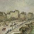 Pont Neuf Snow Effect Print by Camille Pissarro