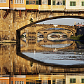 Ponte Vecchio Crossing the River A Print by Jeremy Woodhouse