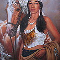 Pony Maiden Print by Harvie Brown