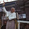 Pope John Paul Ii Waves Poster by James L. Stanfield